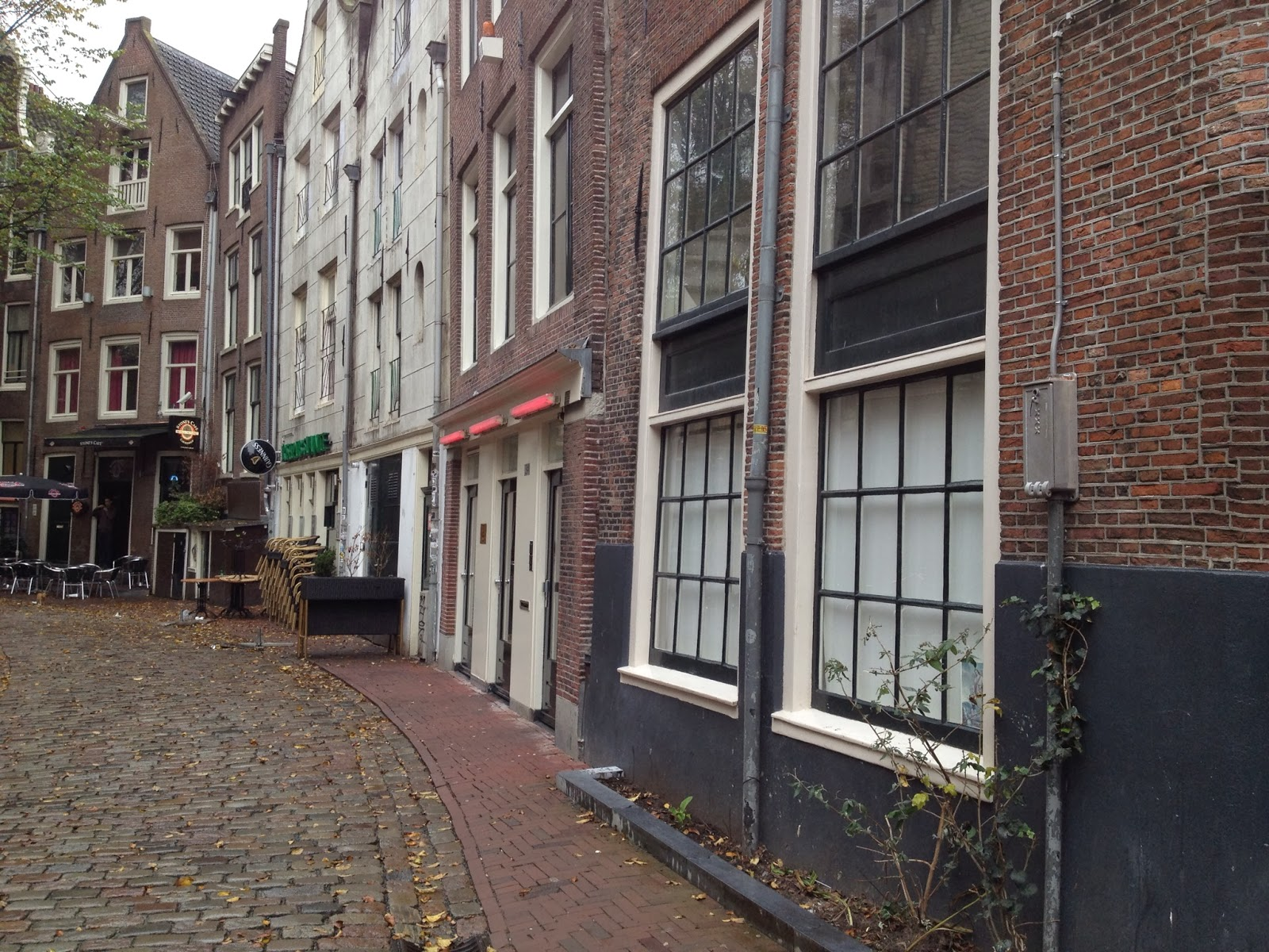 Amsterdam - Walking tour took us through the Red Light District
