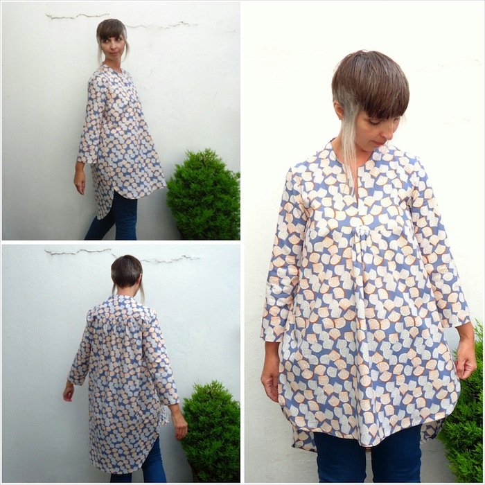 The finished item: Blouse A, Burda 7220