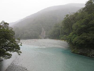 Blue Pools. Parque Nacional Mount Aspiring, Nueva Zelanda