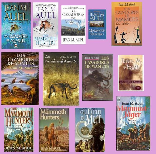 portadas del libro Los cazadores de mamuts, de Jean M. Auel