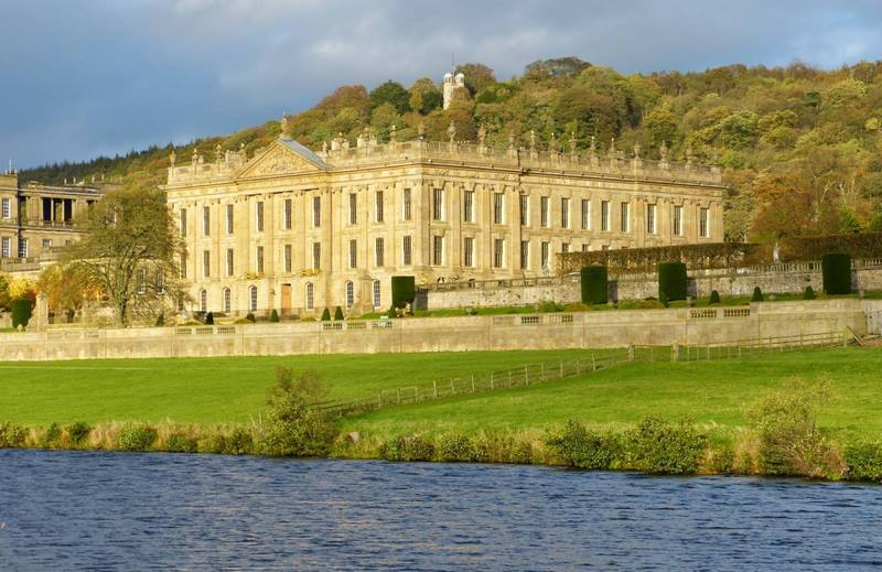 Chatsworth House y río Derwent