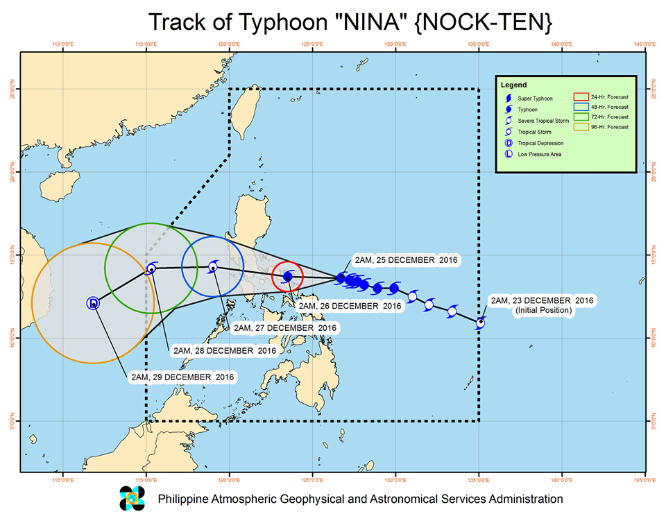 typhoon nina track december 25, 2016