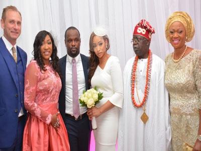 Buhari eulogises Tinubu at APC leader's son's wedding