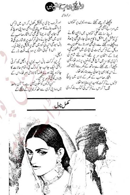 Dilon ke deep jaltay hain novel by Maryam Mah Munir