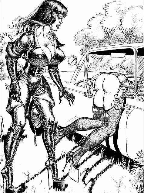 femdom-bootlickers-cartoon-draw-art