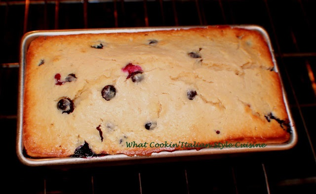 Sour Cream Blueberry Bread