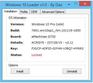 windows 10 daz loader