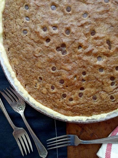 tuscaloosa tollhouse pie, basado en la receta de Baked