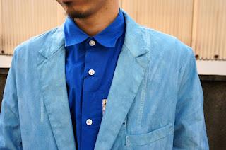 ZIPシャツとショップコート