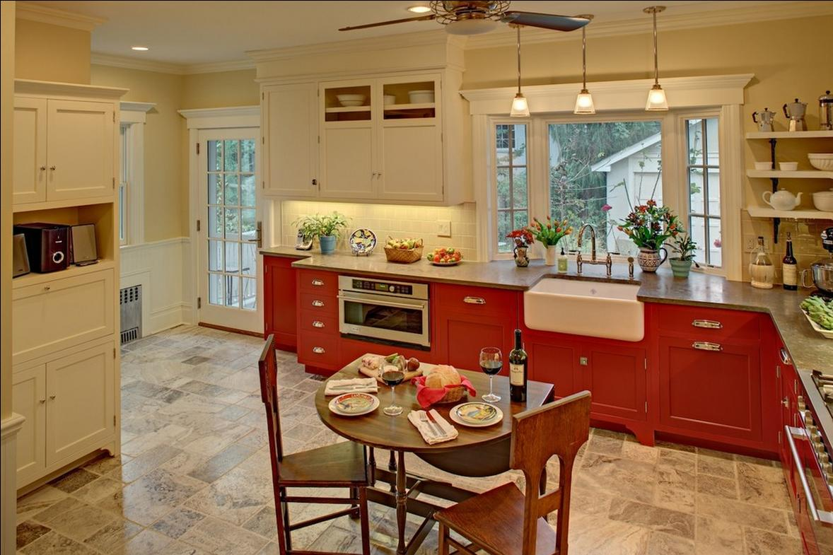 Delorme Designs: RED AND WHITE KITCHEN LOVE!