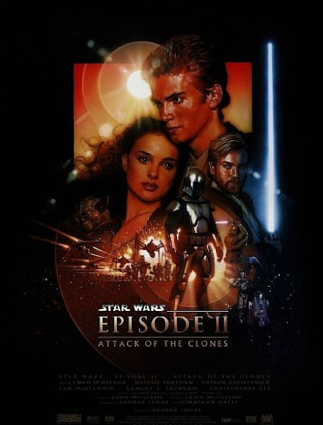 Poster of Star Wars Episode II Attack of the Clones 2002 720p Hindi BRRip Dual Audio