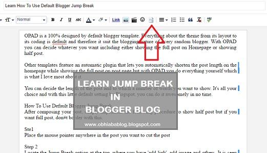 blogger jump break