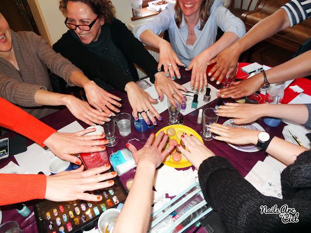 Nail Art Party entre filles par Nails Arc en Ciel
