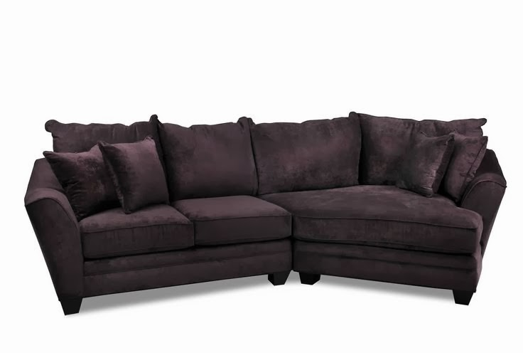 Belleview Sectional In Eggplant