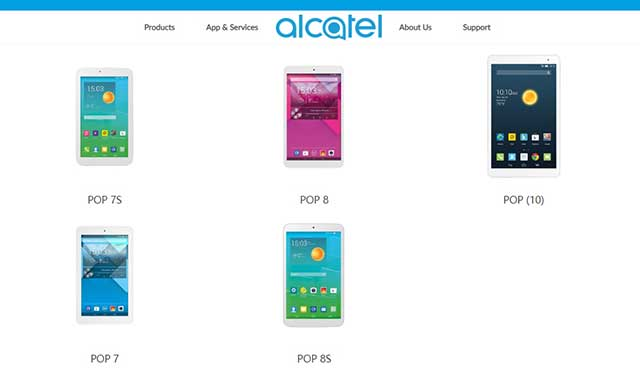 Software Drivers tablets Alcatel