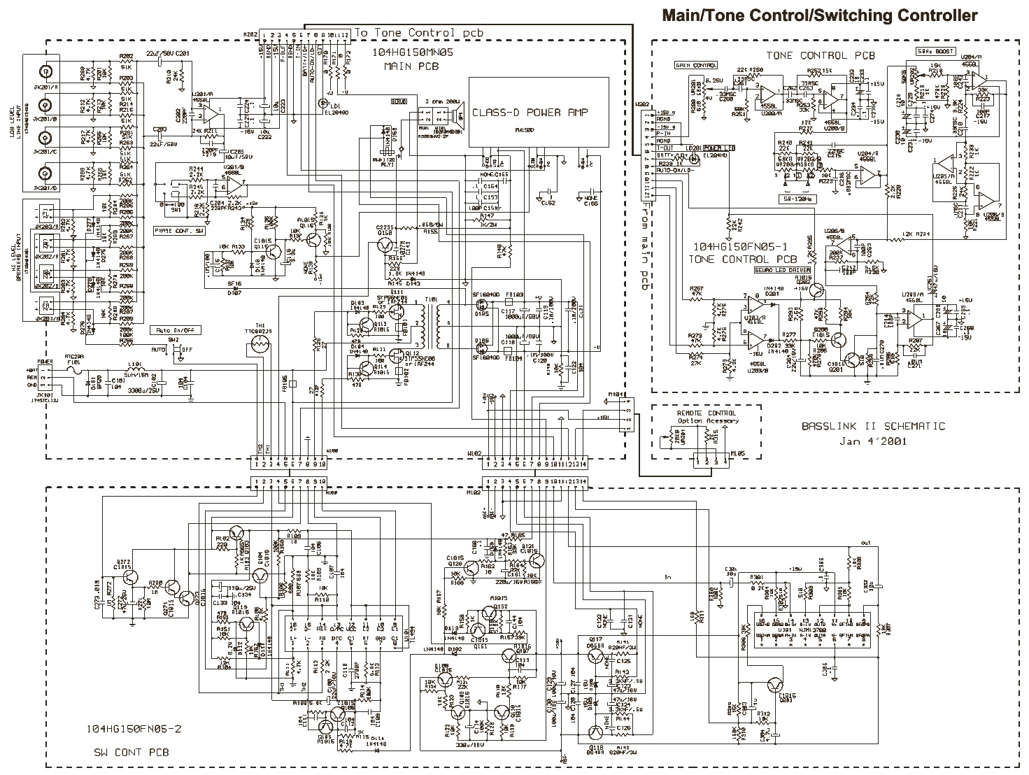 INFINITY BASSLINK 10 SCHEMATIC DIAGRAM
