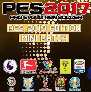 PES 2017 Mini Patch Season 2018/2019