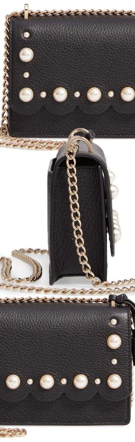 KATE SPADE NEW YORK hayes street hazel studded leather crossbody bag