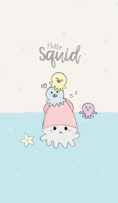 Squid cute.