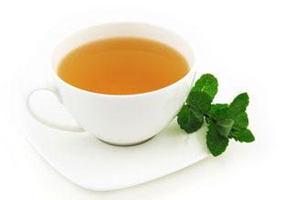 Gambar teh dan daun peppermint
