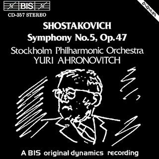 Sinfonía núm. 5 de Shostakovich con la Orquesta Filarmónica de Estocolmo, bajo la dirección de Yuri Ahronovitch, en el sello BIS.