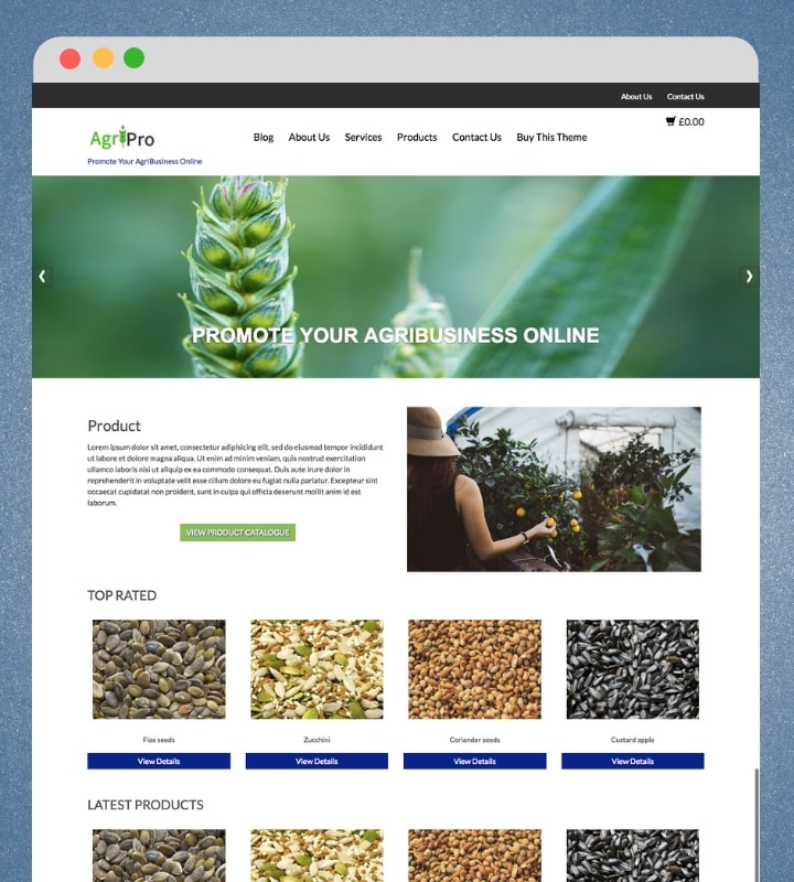 AgriPro  (Premium ECommerce WordPress Theme)