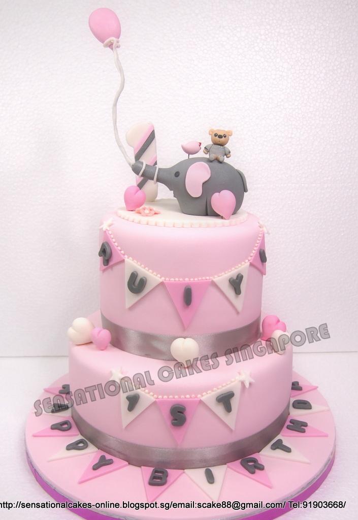 The Sensational Cakes Pink Animals Cake Singapore Cute