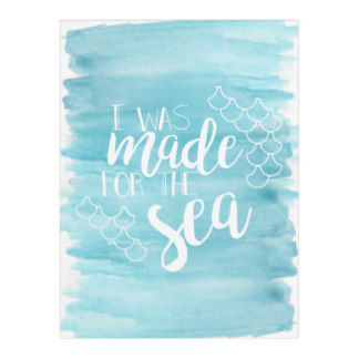 Mom-To-Be Mother's Day Gifts - Made For The Sea Watercolor Fleece Blanket