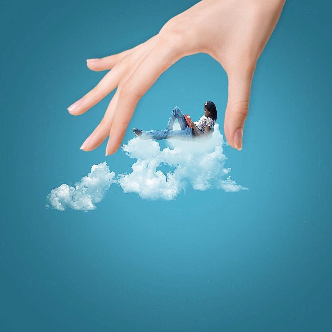 08-Relaxing-Time-Marcus-Einspannier-Surreal-Digital-Photo-Manipulation-using-Clouds-www-designstack-co