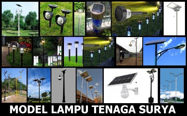 Model lampu taman tenaga surya