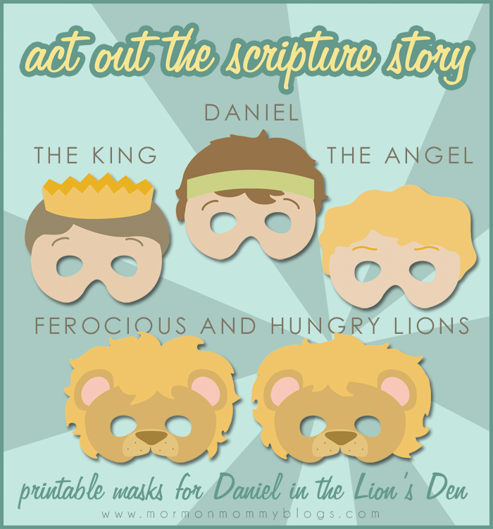 If You Think The Kids Would Enjoy Reinacting Story Grab These Printable Masks Over At MM Printables Mini Book Daniel In Lions Den