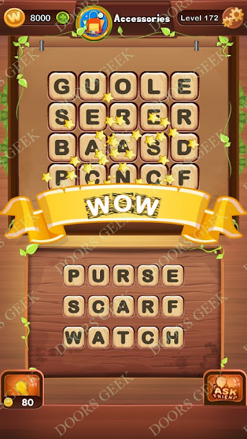 Word Bright Level 172 Answers, Cheats, Solutions, Walkthrough for android, iphone, ipad and ipod
