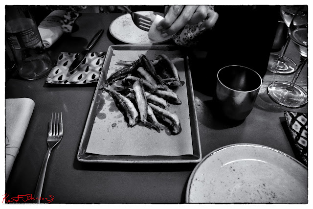 A serving of sardines at Trattoria Da Oscar.  Photograph by Kent Johnson