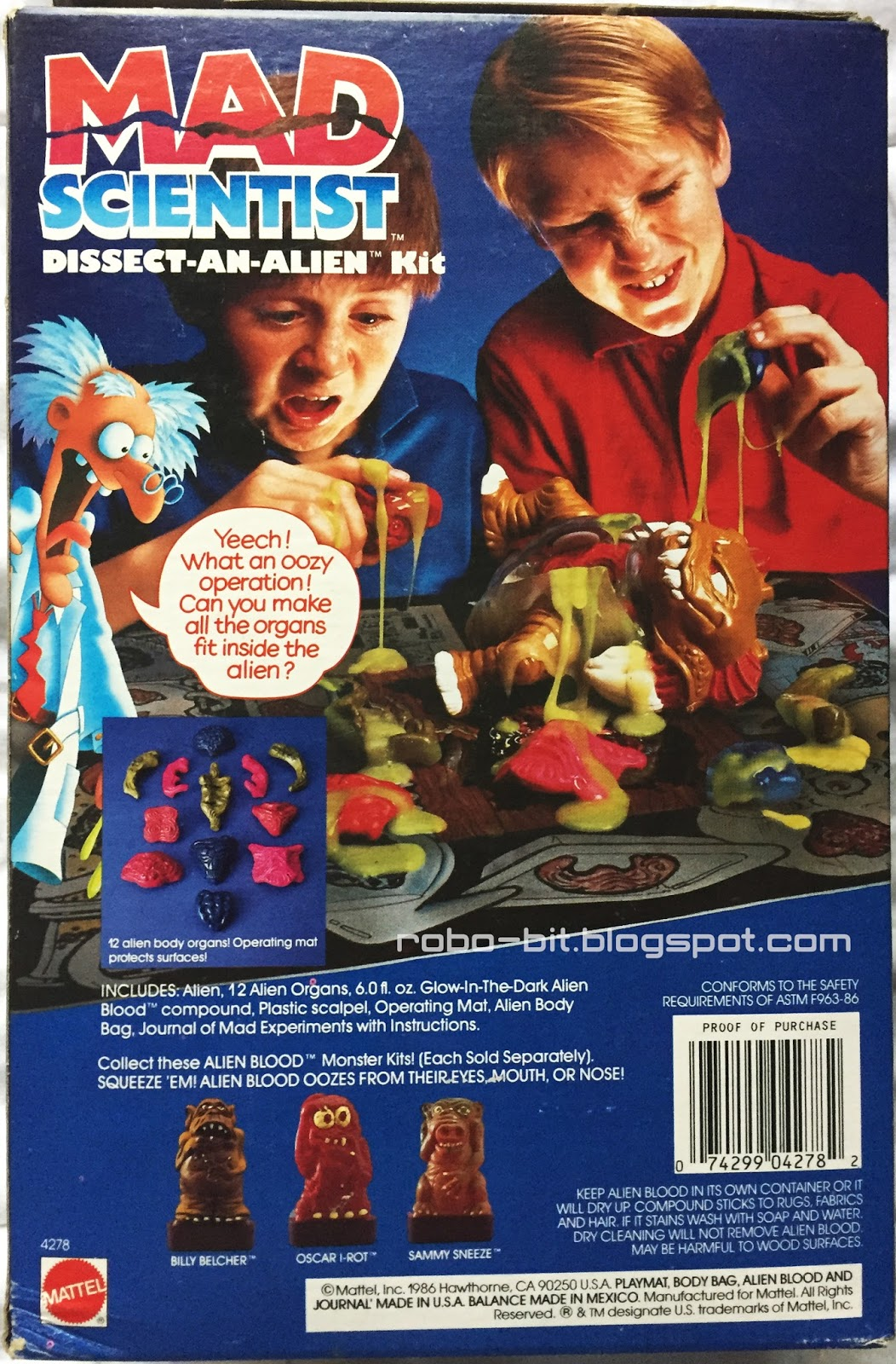 Robo-Bit: Mad Scientist Dissect-An-Alien By Mattel (1987)