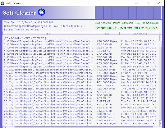 تحميل برنامج تسريع الكمبيوتر - حذف الملفات المؤقتة Soft Cleaner