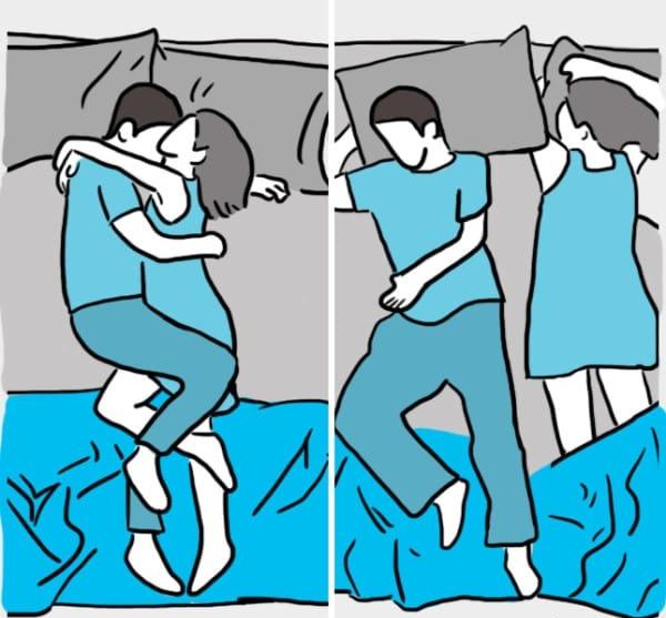 positions du sommeil