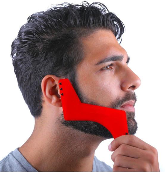 Plantilla Molde Corte De Barba Barbero Pelo Afeitar