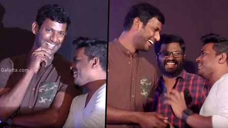 Vishal and Yuvan Off Screen Chemistry – Irumbuthirai Audio Launch