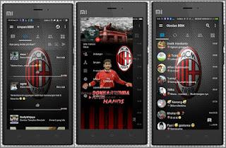 Download BBM MOD Ac Milan APK V3.1.0.13 Soccer Theme