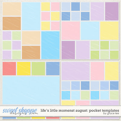 Life's Little Moments August: Pocket Templates