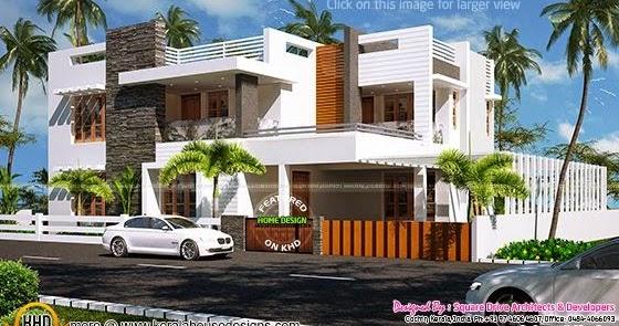 223 Sq M Contemporary Villa Exterior Kerala Home Design