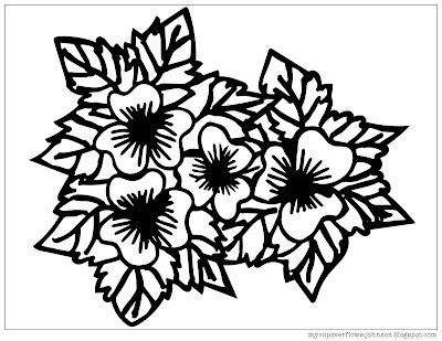free flowers coloring page