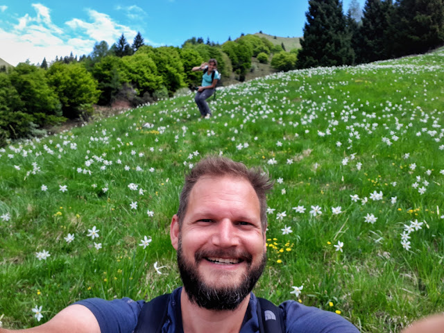 Happy face at the dromae fields in Valle di Ledro