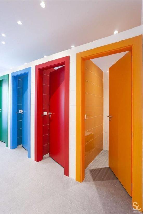 desain inspiratif Tema lucu kamar mandi anak