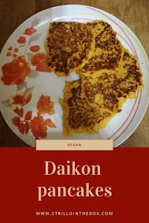 daikon pancakes vegan