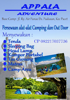 sewa tenda dan alat outdoor