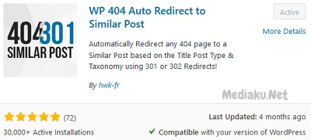 Cara Menggunakan Plugin WP 404 Auto Redirect