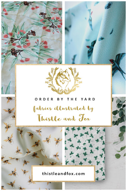Order fabric by the yard from Thistle and Fox