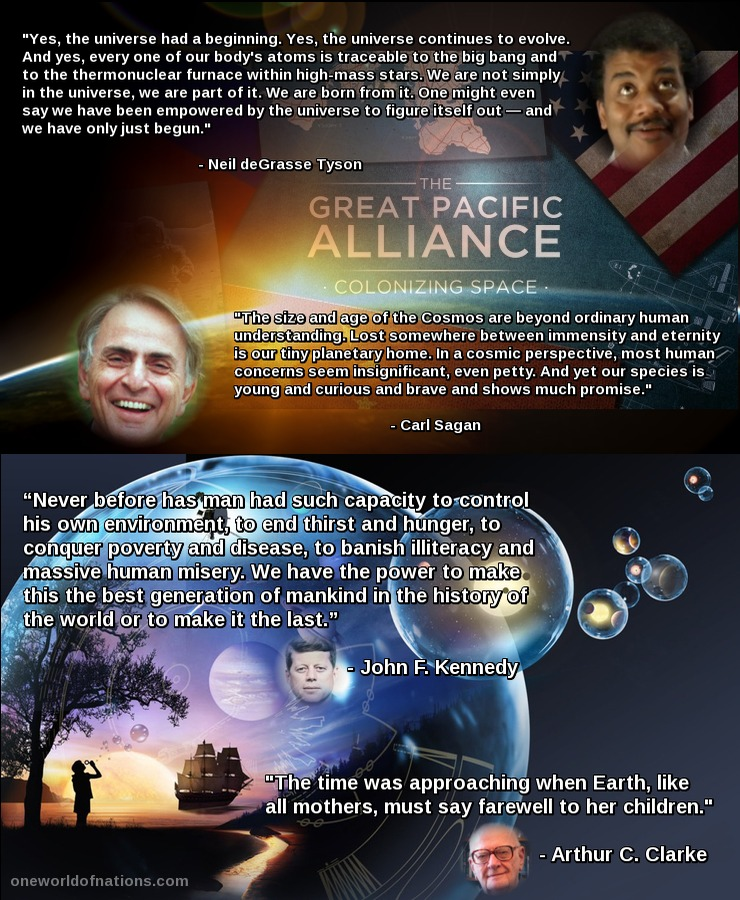 Space, Universe, Quotes, Sagan' degrasse, Tyson, JFK, Kennedy, Clarke,
