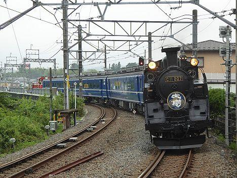 東武鉄道鬼怒川線 SL大樹 C11-207等5両編成